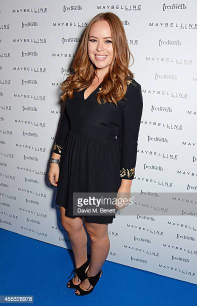 Tanya Burr attends the Maybelline New York London Fashion Week Party hosted by Jourdan Dunn at Tredwels on September 12 2014 in London England