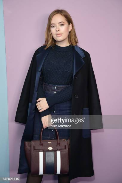 Tanya Burr attends the Mulberry show during the London Fashion Week February 2017 collections on February 19 2017 in London England