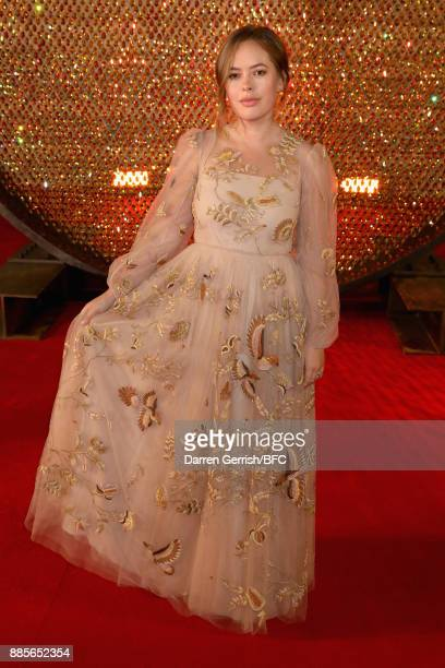 Tanya Burr attends the Swarovski Prolouge at The Fashion Awards 2017 in partnership with Swarovski at Royal Albert Hall on December 4 2017 in London...
