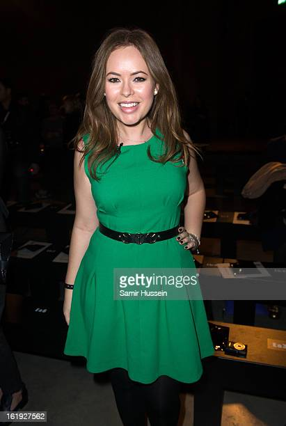 Tanya Burr attends the Topshop Unique show at the Tate Modern during London Fashion Week Fall/Winter 2013/14 on February 17 2013 in London England