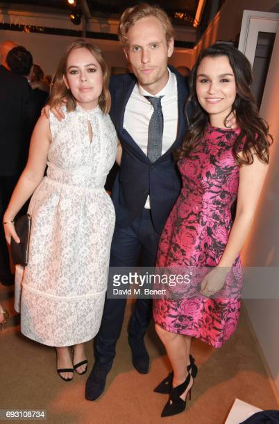 Tanya Burr Jack Fox and Samantha Barks attend the Glamour Women of The Year Awards 2017 in Berkeley Square Gardens on June 6 2017 in London England