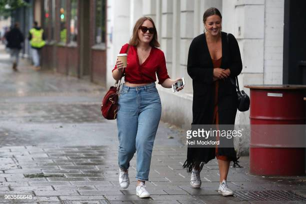 Tanya Burr seen arriving at the Southwark Playhouse for new play 'Confidence' by Boundless Theatre in which she is making her London stage debut on...