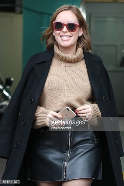 Tanya Burr seen at the ITV Studios promoting her new book 'Tanya's Christmas' on November 7 2017 in London England