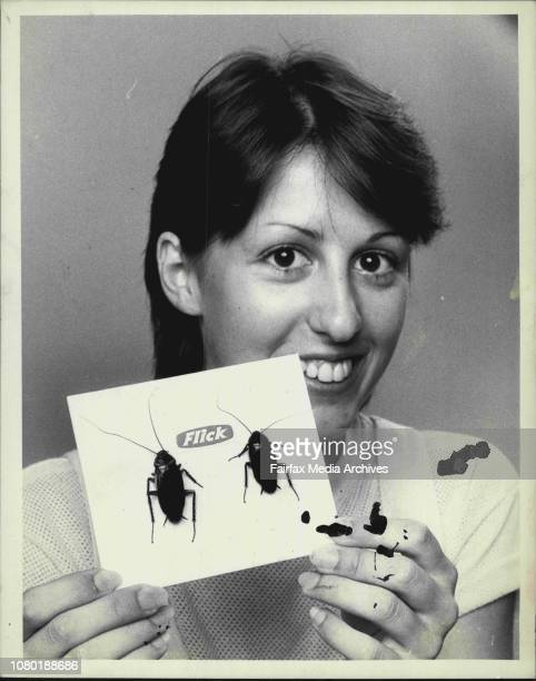 Tanya Croft with American Cockroach amp Smoky Brown Studio office February 16 1984