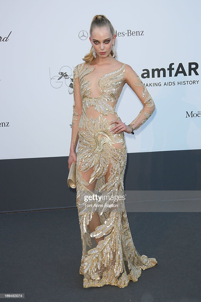 Tanya Dziahileva arrives at amfAR's 20th Annual Cinema Against AIDS at Hotel du Cap-Eden-Roc on May 23, 2013 in Cap d'Antibes, France.