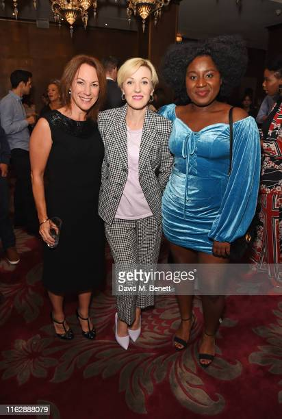 Tanya Franks Kacey Ainsworth and Susan Wokoma attend the Raindance Film Festival's Special Soiree at The May Fair Hotel on August 20 2019 in London...