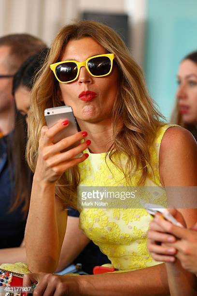 Tanya G attends the Ellery show during MercedesBenz Fashion Week Australia 2014 at Bondi Icebergs Dining Room on April 7 2014 in Sydney Australia