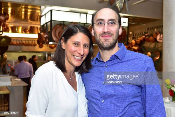 Tanya Hackel and Andrew Hackel attend 'The Initiation' Book Launch at Bouley TK on March 15 2018 in New York City