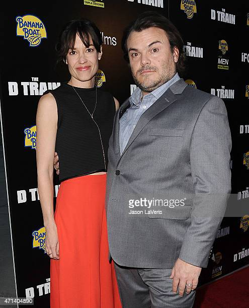 Tanya Haden and Jack Black attend the premiere of 'The D Train' at ArcLight Hollywood on April 27 2015 in Hollywood California