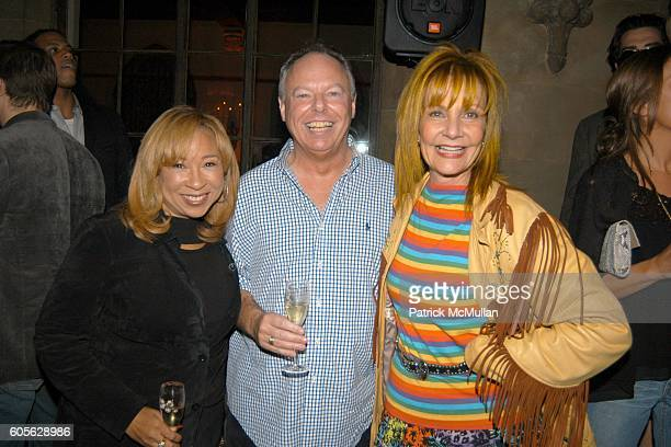 Tanya Hart Richard Minards and Janet Charlton attend ETRO and PERRIER JOUET Celebrate Patrick McMullan's Book KISS KISS at Chateau Marmont on...