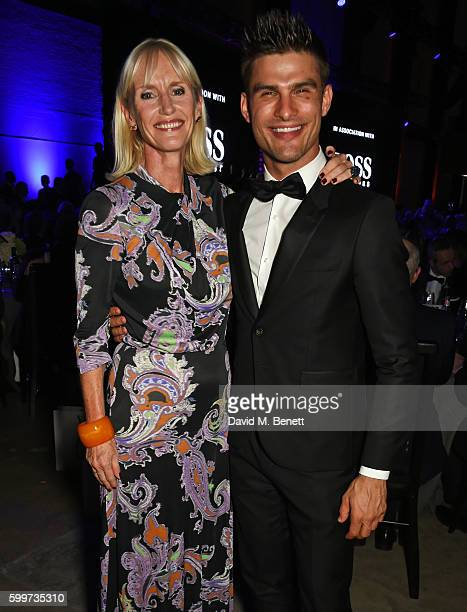 Tanya Hughes and Aljaz Skorjanec attend the GQ Men Of The Year Awards 2016 at the Tate Modern on September 6 2016 in London England