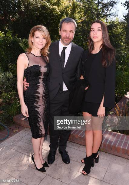 Tanya Lapointe Director Denis Villeneuve and daughter attend the Canadian Brunch Reception Honoring Canadian Nominees For The 89th Academy Awards And...