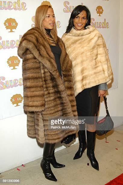 tanya Lee and Crystal McCrary Anthony attend Suede Magazine Hosts Suede The Party to Celebrate the Impact of The Ultrasuedes at Skylight Studio on...