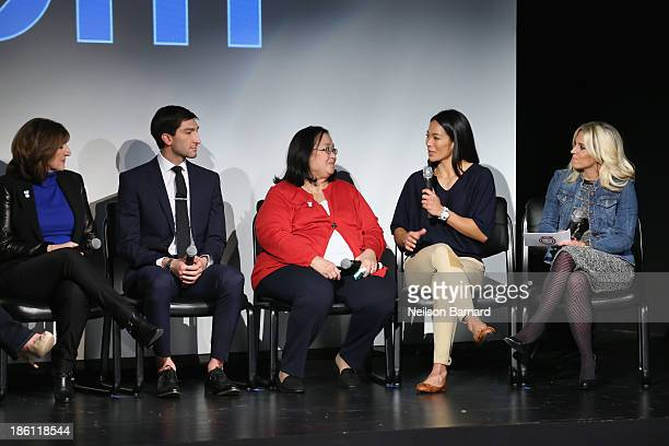 Tanya Lysacek and her son olympian Evan Lysacek Miriam Chu and her daughter olympian Julie Chu join PG to kickoff The 2014 Sochi Olympic Winter Games...