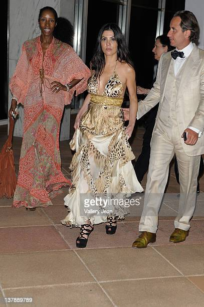 Tanya Marie Adriana De Moura and Frederic Marq leaving the Bacardi 150th Anniversary Celebration on January 28 2012 in Miami Florida