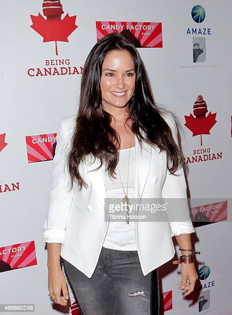 Tanya Memme attends the premiere of 'Being Canadian' at Crest Westwood on September 17 2015 in Westwood California