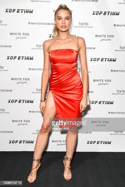 Tanya Mityushina attends White Fox Boutique Swimwear Launch Of 100% Salty at Catch on July 26 2018 in West Hollywood California