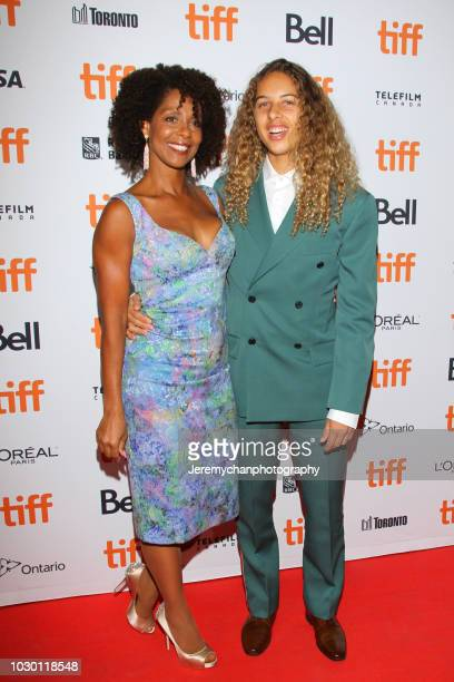 Tanya Neely and Olan Prenatt attend the Mid90s Premiere during 2018 Toronto International Film Festival at Ryerson Theatre on September 9 2018 in...