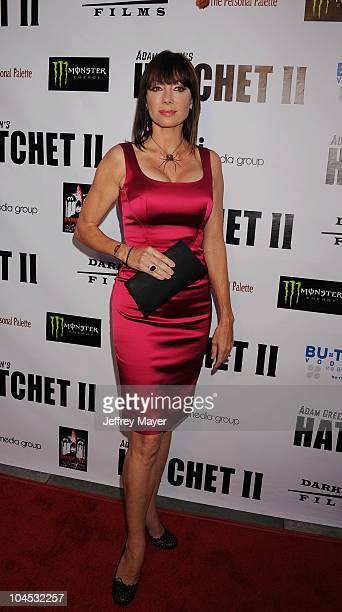 Tanya Newbould arrives at the Hatchet II Los Angeles Premiere at the Egyptian Theatre on September 28 2010 in Hollywood California