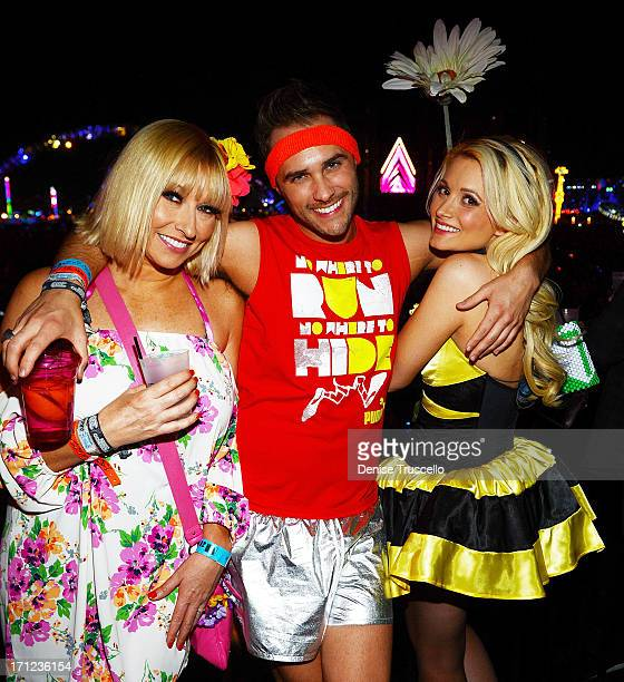 Tanya Popovich Josh Strickland and Holly Madison during the 17th annual Electric Daisy Carnival at Las Vegas Motor Speedway on June 22 2013 in Las...