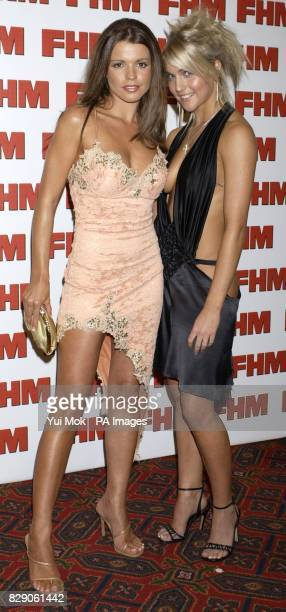 Tanya Robinson and Kayleigh Pearson arrives for FHM Magazine's 100 Sexiest Women party at Guildhall in central London