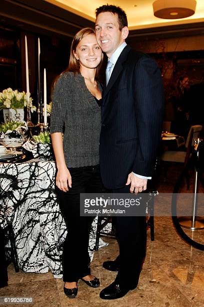 Tanya Ryzhenko and Andrew Borrok attend TIFFANY Celebrates Dining in Style With ALPHA WORKSHOPS at Tiffany Co on October 16 2008 in London NY