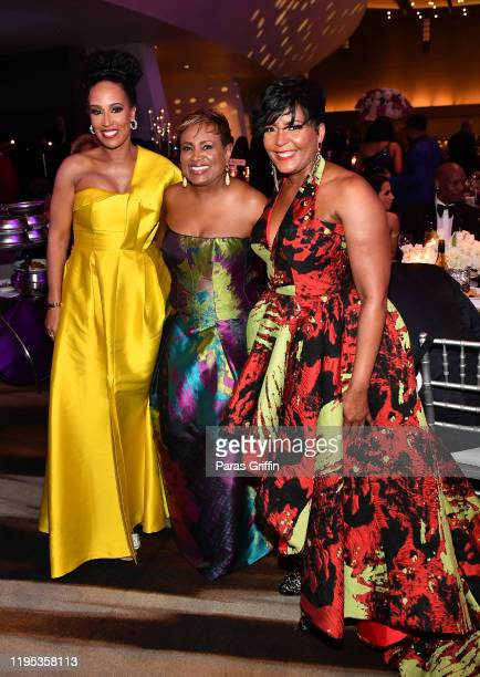 Tanya Sam Vicki Palmer and Atlanta Mayor Keisha Lance Bottoms attend 36th Annual Atlanta UNCF Mayor's Masked Ball at Atlanta Marriott Marquis on...