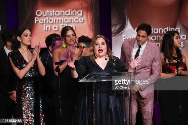Tanya Saracho and the cast of the Tv series 'Vida' onstage during the 22nd Annual National Hispanic Media Coalition Impact Awards Gala at Regent...