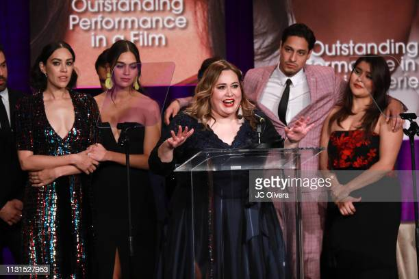 Tanya Saracho speaks onstage during the 22nd Annual National Hispanic Media Coalition Impact Awards Gala at Regent Beverly Wilshire Hotel on February...