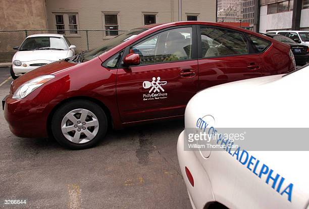 Tanya Seaman drives a PhillyCarShare Prius into a municipal parking lot April 8 2004 in Philadelphia Pennsylvania Philadelphia is selling off...