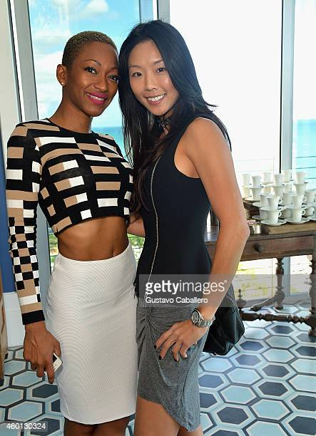 Tanya Sergei and Young Jean On attends The John Varvatos Art Basel Closing Brunch In Support Of Bass Museum Of Art at Soho Beach House on December 7...