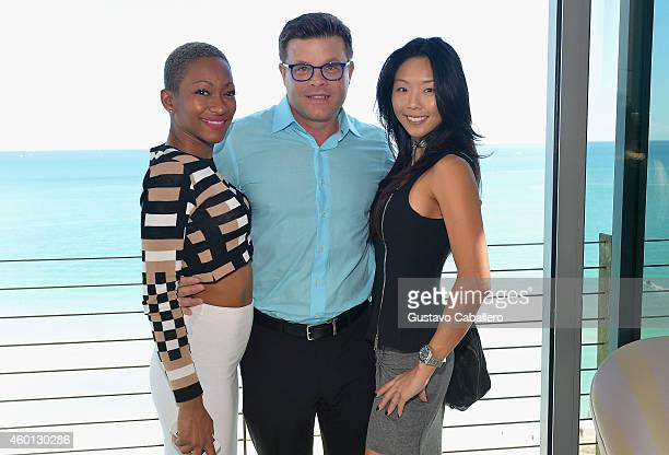 Tanya SergeiJeff Ransdell and Young Jean On attends The John Varvatos Art Basel Closing Brunch In Support Of Bass Museum Of Art at Soho Beach House...