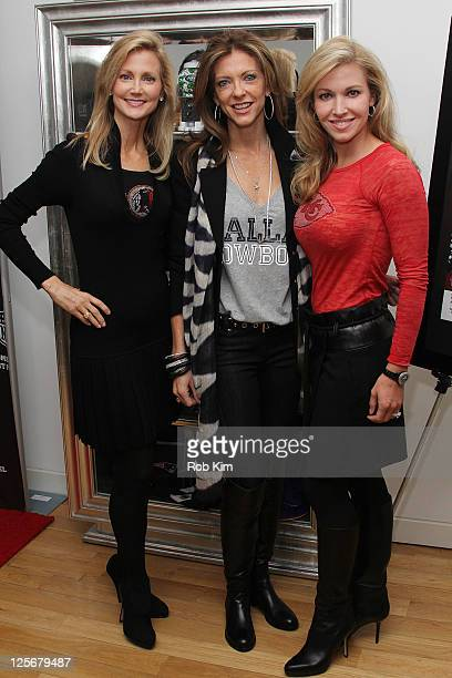 Tanya Snyder Charlotte Jones Anderson and Tavia Hunt visit the NFL Style Suite at the Bryant Park Hotel on September 20 2011 in New York City