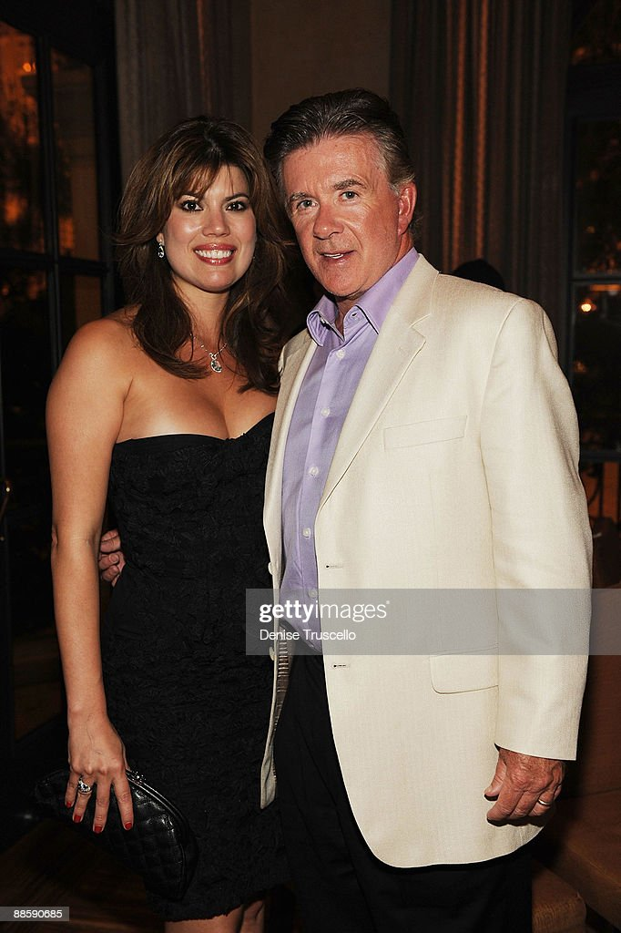 Tanya Thicke and Alan Thicke (R) attend Yellowtail restaurant at the Bellagio Las Vegas on June 19, 2009 in Las Vegas, Nevada.