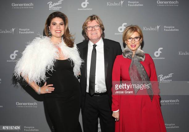 Tanya Thicke Peter Noone and Mireille Strasser Noone attend the Dream Foundation's 2017 Dreamland Gala at The RitzCarlton Bacara on November 18 2017...