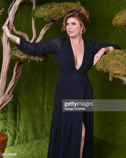 Tanya Thicke poses in the 2018 Canadian Screen Awards Broadcast Gala Portrait Studio at Sony Centre for the Performing Arts on March 11 2018 in...
