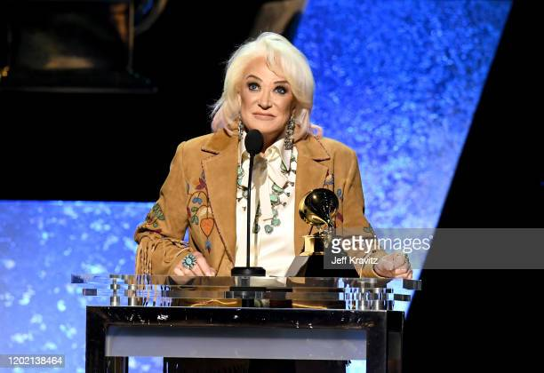 Tanya Tucker accepts Best Country Song for Bring My Flowers Now onstage during the 62nd Annual GRAMMY Awards Premiere Ceremony at Microsoft Theater...