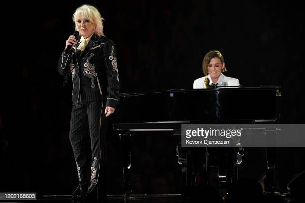 Tanya Tucker and Brandi Carlile perform onstage during the 62nd Annual GRAMMY Awards at Staples Center on January 26 2020 in Los Angeles California