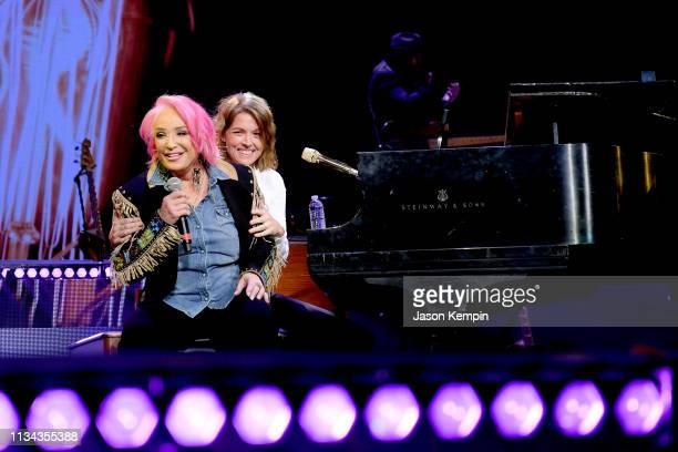 Tanya Tucker and Brandi Carlile perform onstage for Loretta Lynn An AllStar Birthday Celebration Concert at Bridgestone Arena on April 1 2019 in...