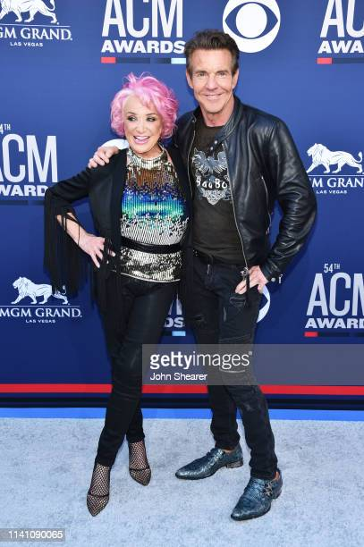 Tanya Tucker and Dennis Quaid attend the 54th Academy Of Country Music Awards at MGM Grand Garden Arena on April 07 2019 in Las Vegas Nevada