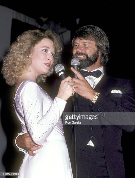 Tanya Tucker and Glen Campbell during Glen Campbell Golf Tournament Dinner February 17 1981 at Century Plaza Hotel in Century City California United...