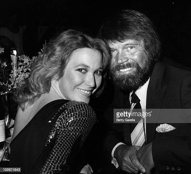 Tanya Tucker and Glen Campbell during Johnny Mathis 25th Anniversary Party 1981 at Beverly Hilton Hotel in New York New York United States
