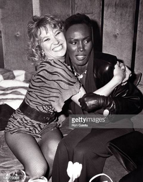 Tanya Tucker and Grace Jones during The Limelight 5th Anniversary Party at Limelight Disco Club in New York City New York United States