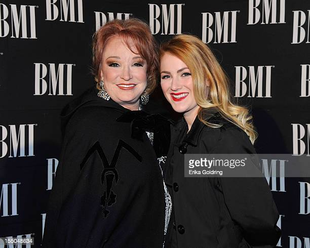 Tanya Tucker and her daughter Presley Tucker attend 60th annual BMI Country awards at BMI on October 30 2012 in Nashville Tennessee