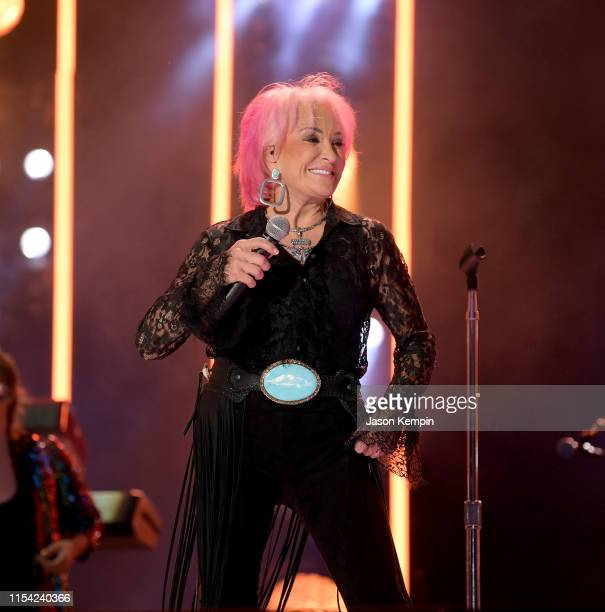 Tanya Tucker performs on stage during day 1 of 2019 CMA Music Festival on June 6 2019 in Nashville Tennessee