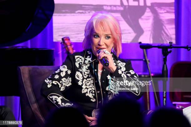 Tanya Tucker speaks onstage at The Drop Tanya Tucker at the GRAMMY Museum on October 03 2019 in Los Angeles California