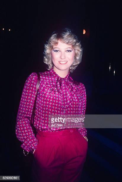 Tanya Tucker wearing a fuchsia paisley blouse circa 1970 New York