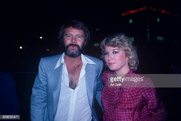Tanya Tucker with Glenn Campbell out for a casual evening circa 1970 New York
