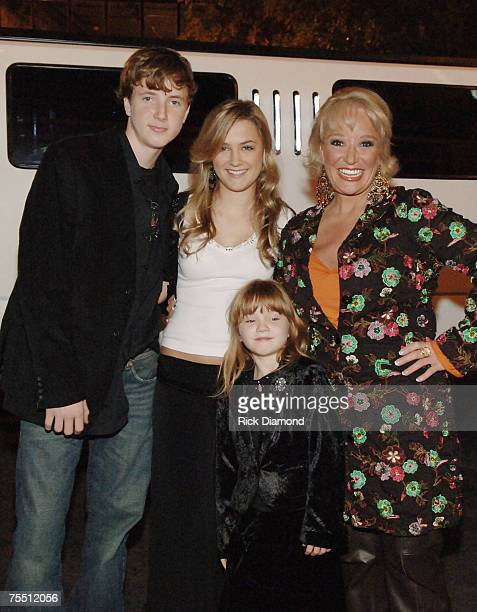 Tanya Tucker with her children Grayson Tucker Presley Tucker and Layla Tucker at the Wildhorse Saloon in NASHVILLE TN