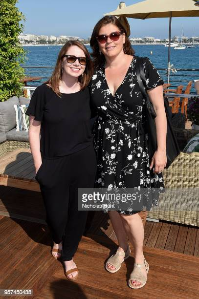 Tanya Warren and Andrea Grau attend the TIFF OMDC cocktail event at the Cannes Film Festival on May 11 2018 in Cannes France